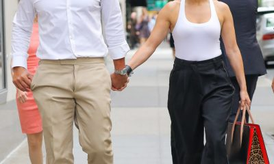 EXCLUSIVE: Jennifer Lopez and Alex Rodriguez are spotted holding hands while having a romantic stroll on the way to dinner at Kappo Masa Restaurant in the upper east side, New York City, NY.   Pictured: Jennifer Lopez and Alex Rodriguez Ref: SPL1533796  060717   EXCLUSIVE Picture by: Felipe Ramales / Splash News  Splash News and Pictures Los Angeles:310-821-2666 New York:212-619-2666 London:870-934-2666 photodesk@splashnews.com